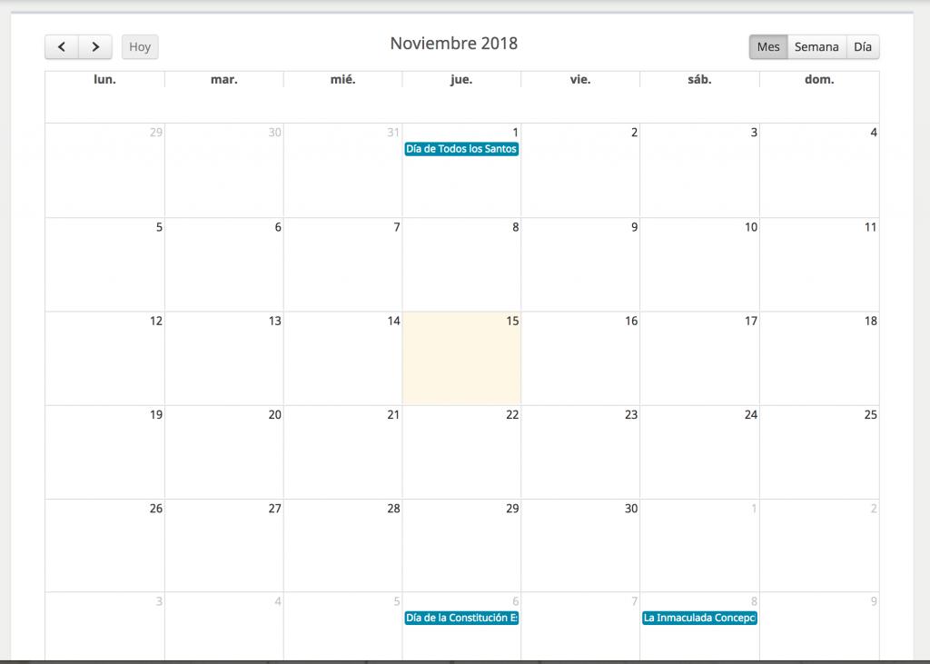 Calendarios y vDrive