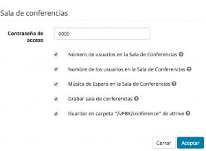 Conferencias en la Centralita Virtual