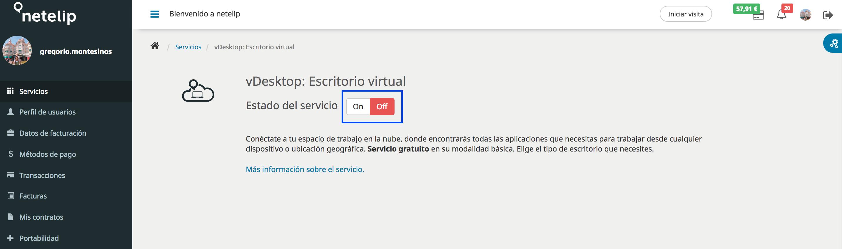 Desactivar los escritorios virtuales