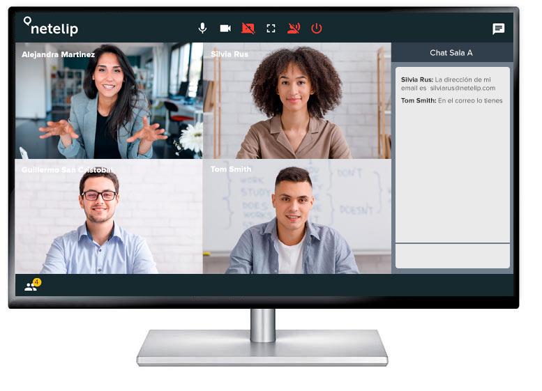 Reuniones en línea con videoconferencia