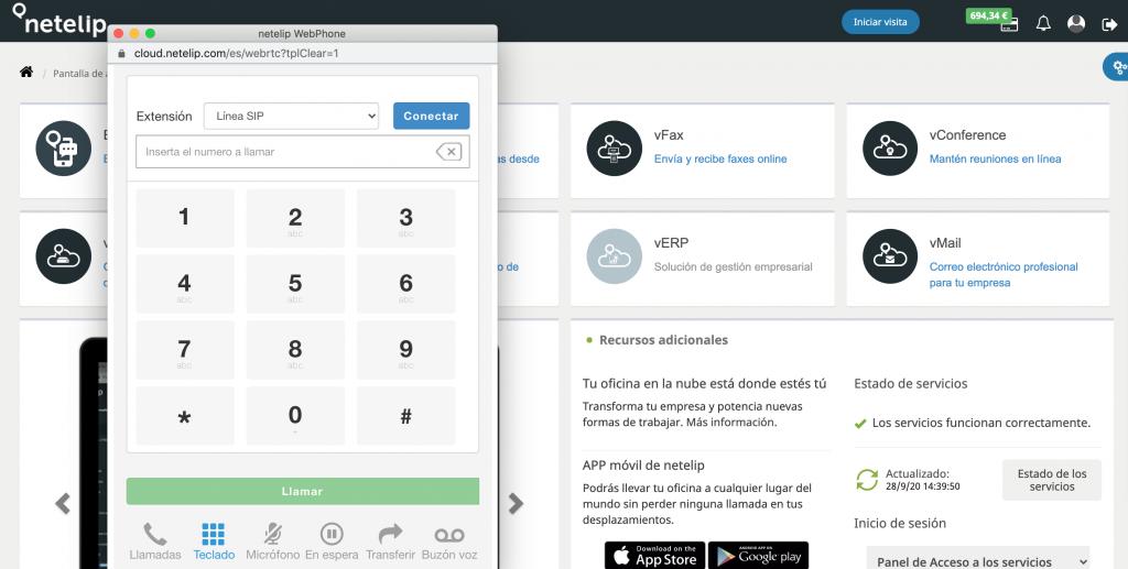 WebPhone nuevas funcionalidades