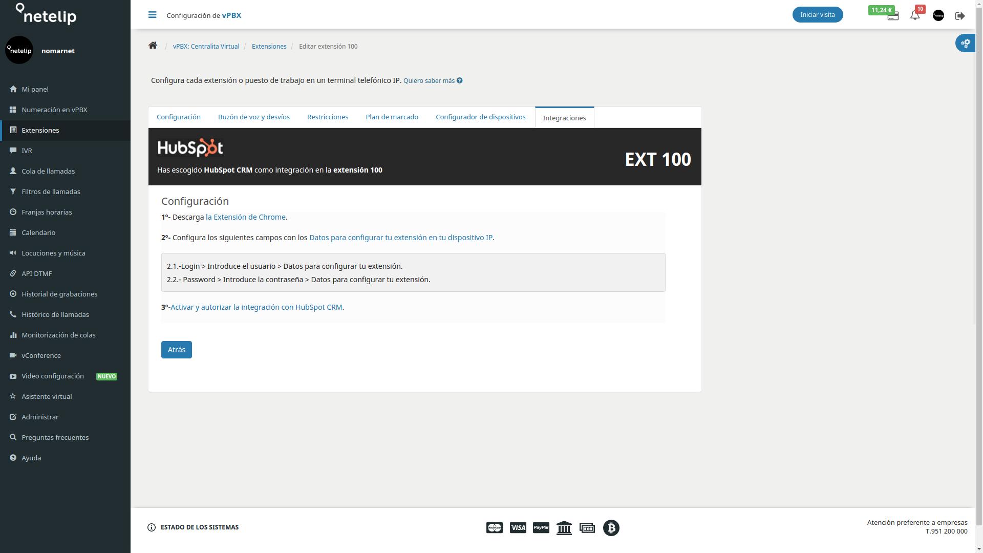 Integrar Hubspot con la Centralita Virtual de netelip